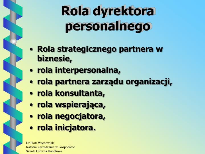 Rola dyrektora personalnego
