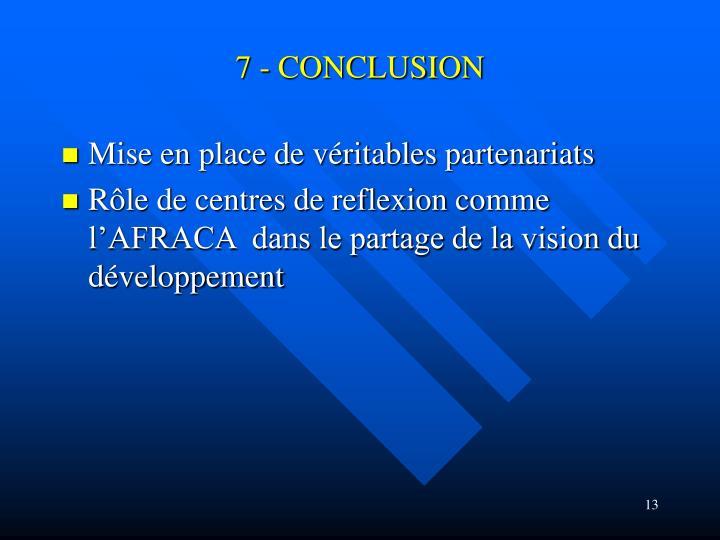 7 - CONCLUSION
