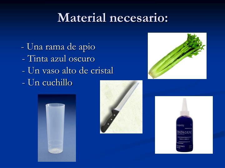 Material necesario: