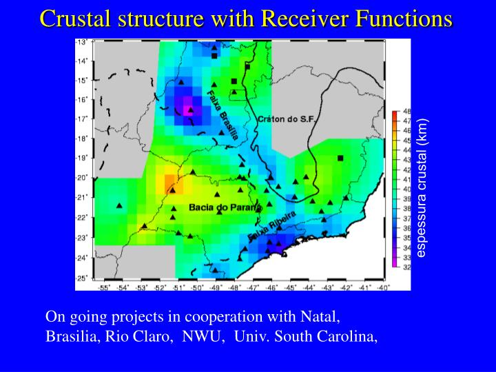 Crustal structure with Receiver Functions
