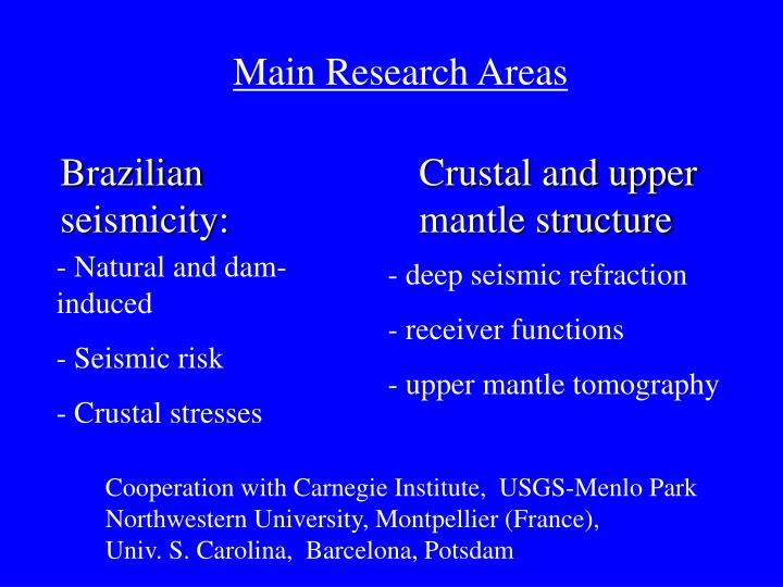 Main Research Areas