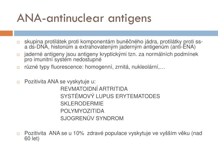 ANA-antinuclear antigens