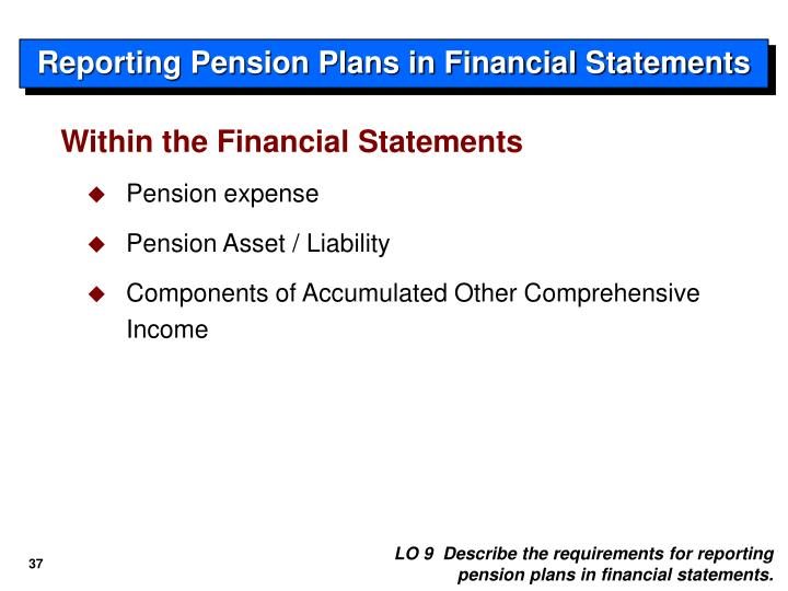 Reporting Pension Plans in Financial Statements