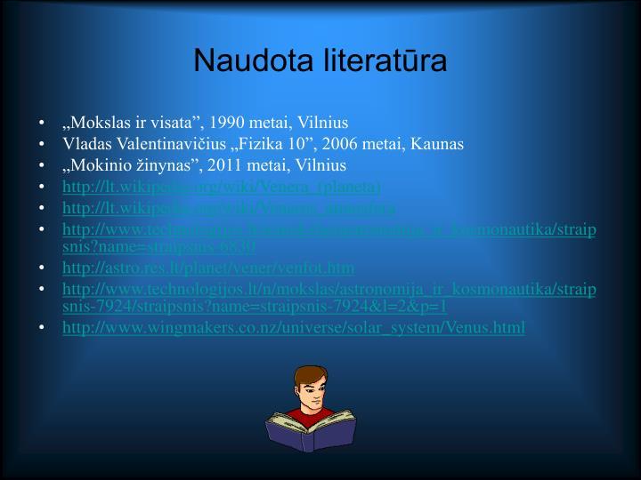 Naudota literatūra