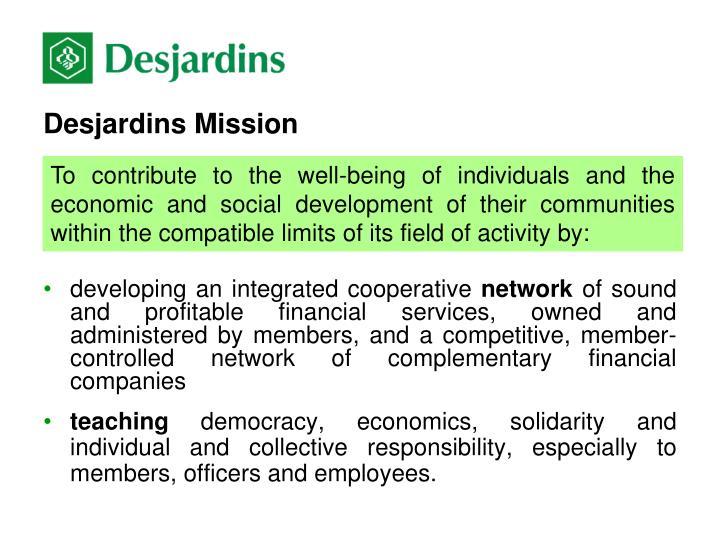 Desjardins Mission