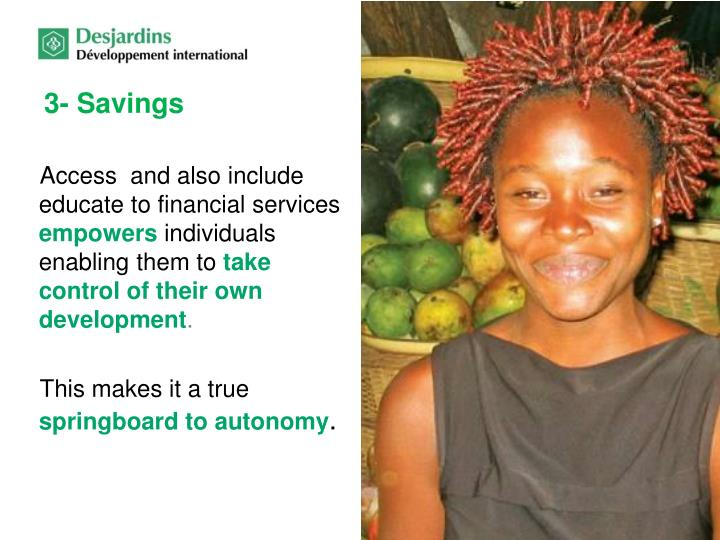 3- Savings