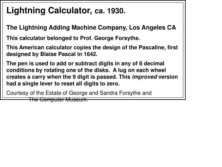 Lightning Calculator,