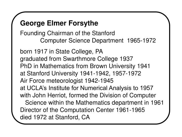 George Elmer Forsythe