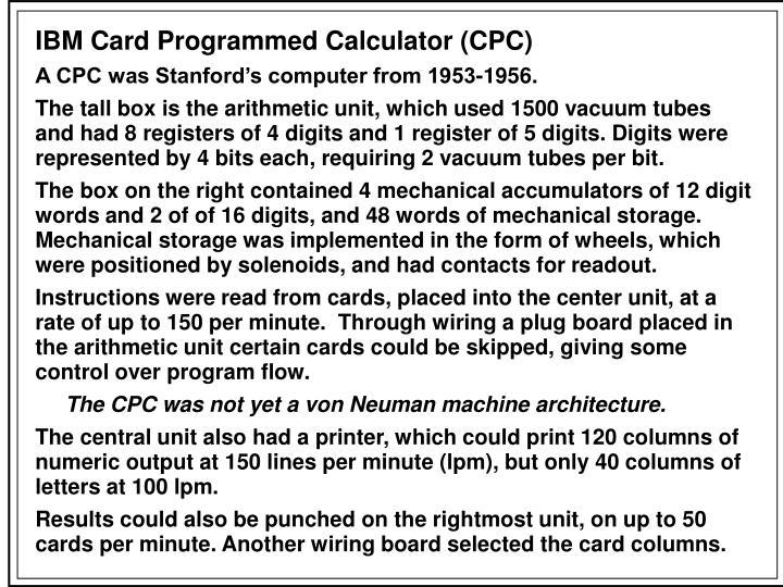 IBM Card Programmed Calculator (CPC)