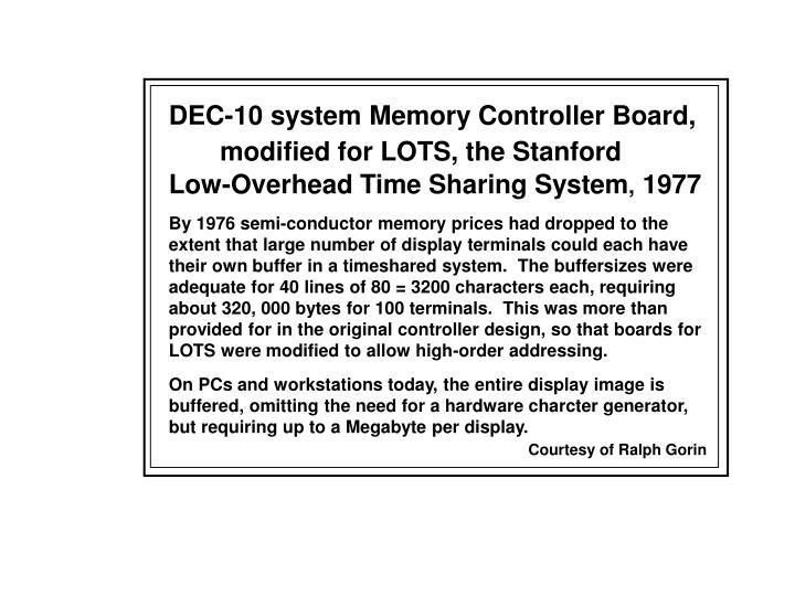DEC-10 system Memory Controller Board,