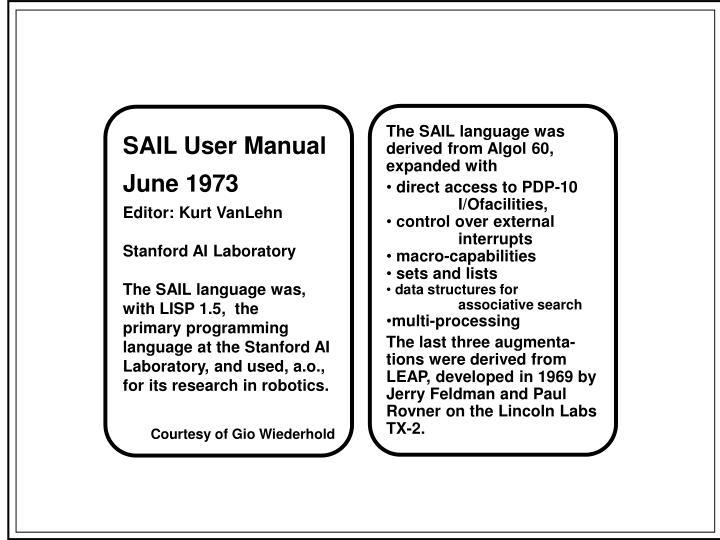 The SAIL language was
