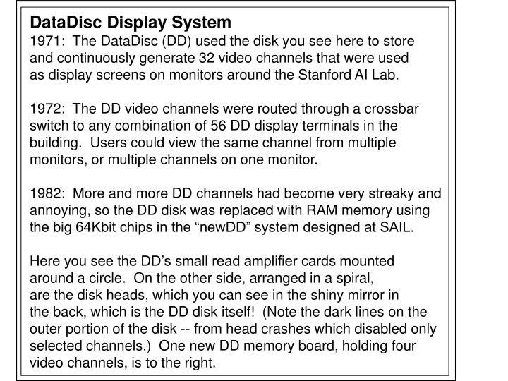 DataDisc Display System