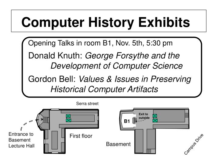 Computer History Exhibits
