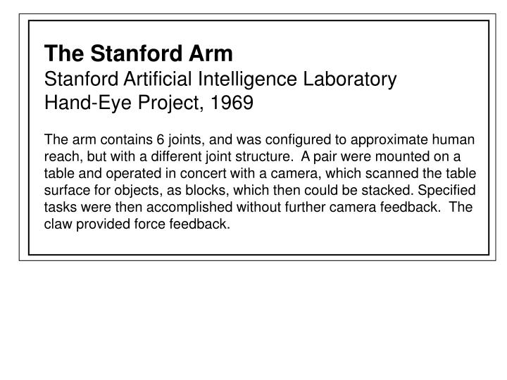 The Stanford Arm