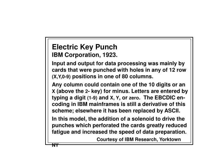 Electric Key Punch