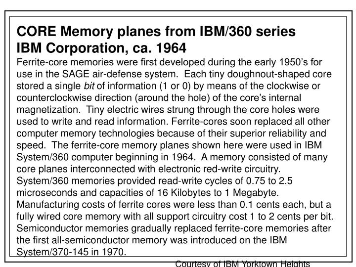 CORE Memory planes from IBM/360 series