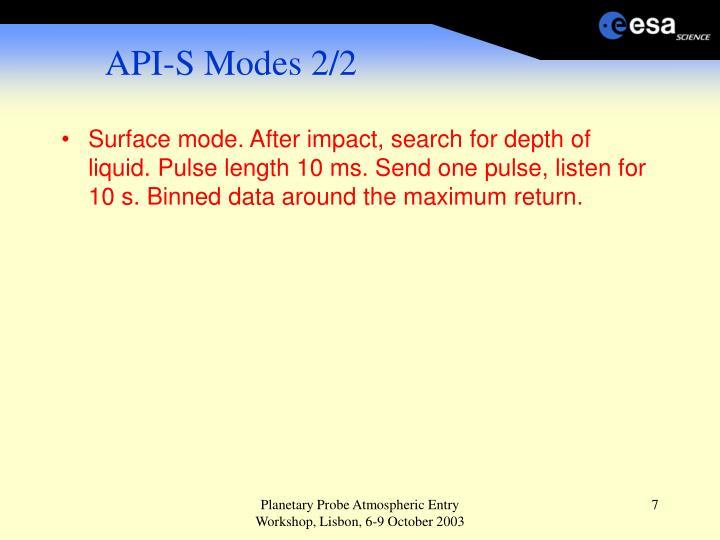 API-S Modes 2/2