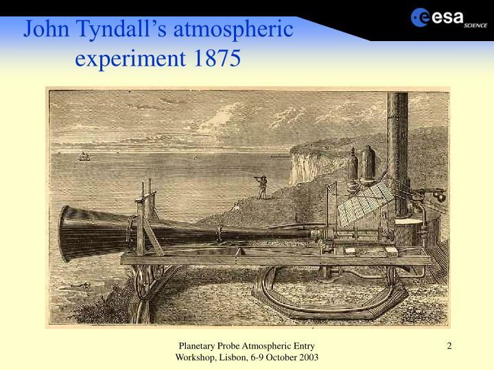 John Tyndall's atmospheric experiment 1875