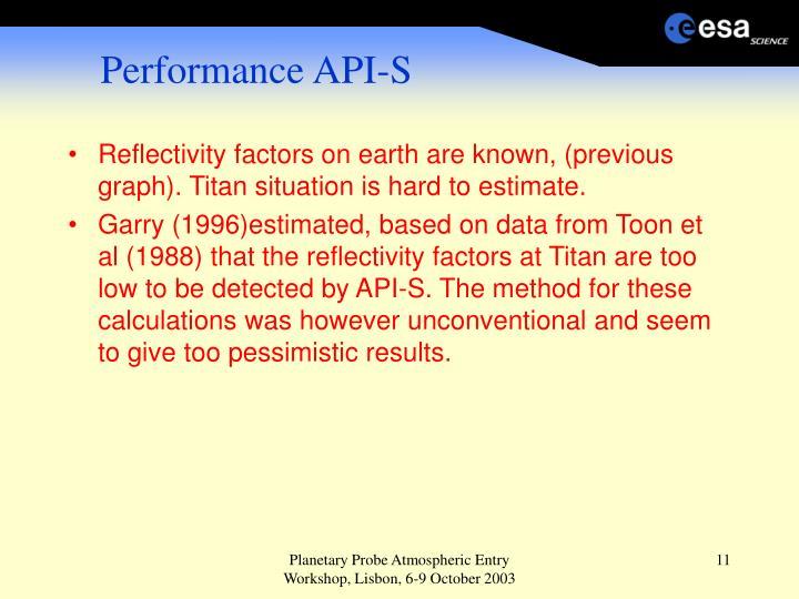 Performance API-S