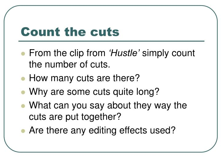 Count the cuts