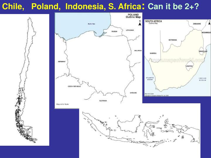 Chile,   Poland,  Indonesia, S. Africa
