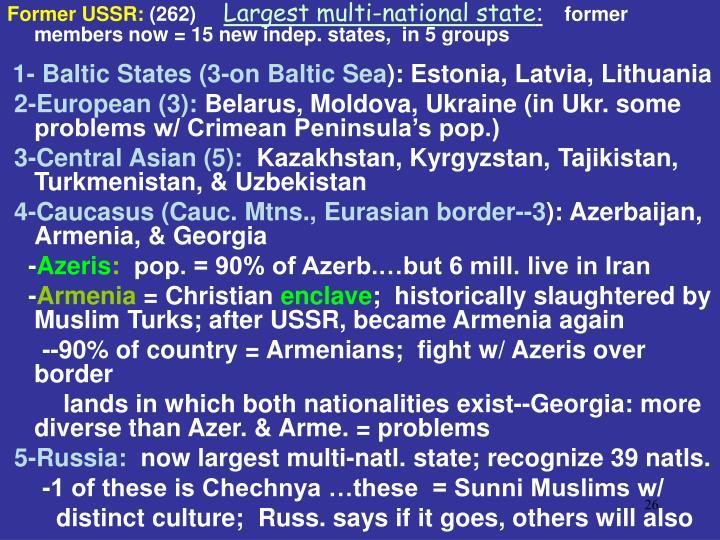 Former USSR: