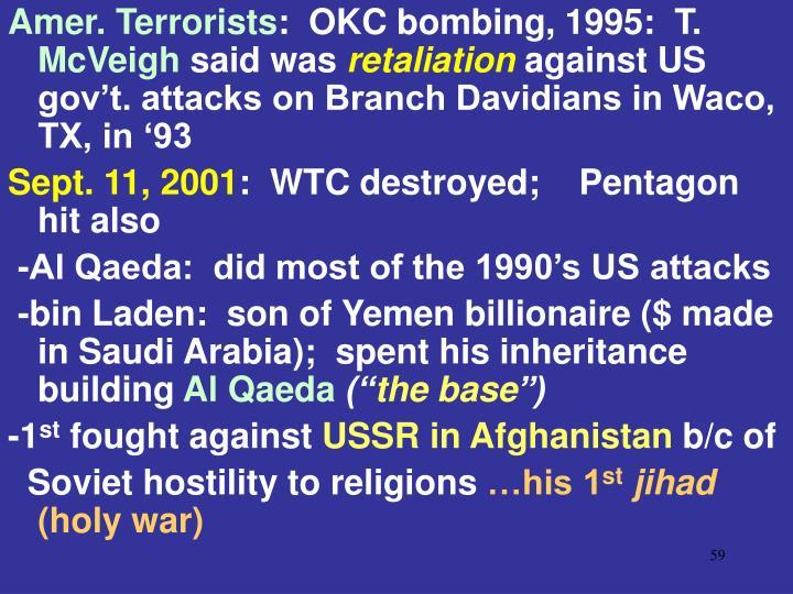 Amer. Terrorists