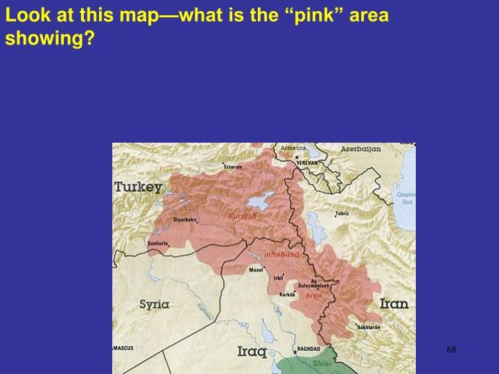 "Look at this map—what is the ""pink"" area showing?"