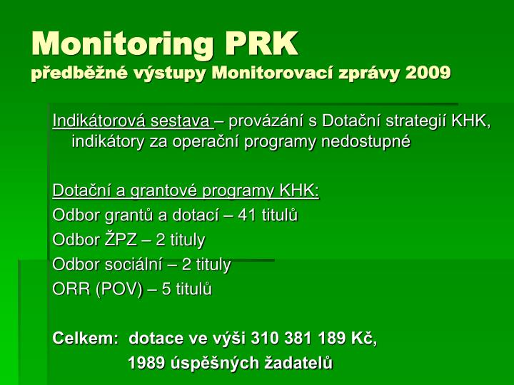 Monitoring PRK