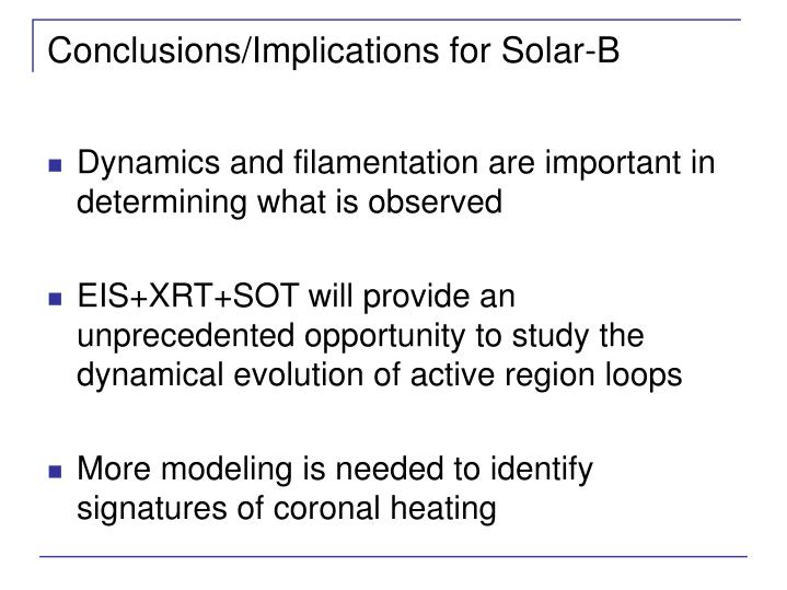 Conclusions/Implications for Solar-B