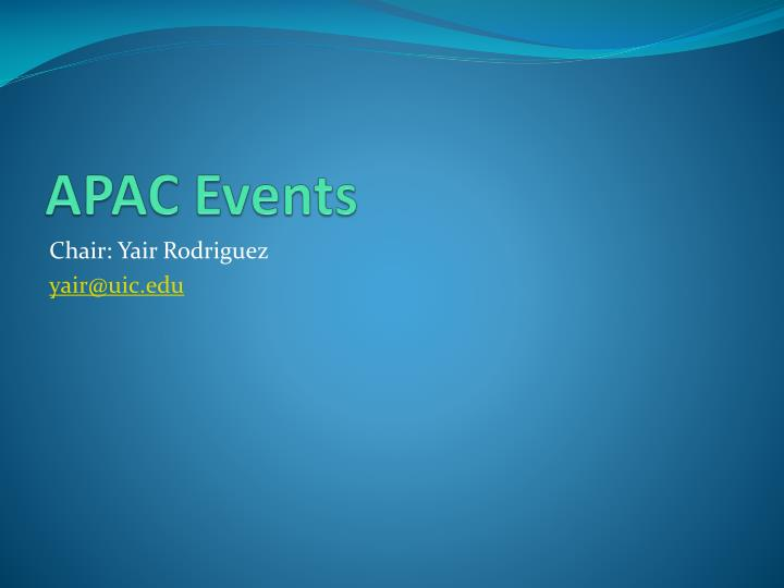 APAC Events
