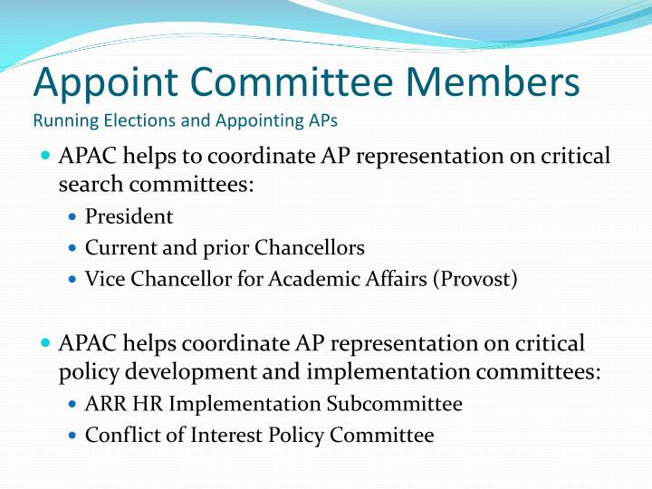 Appoint Committee Members