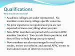 qualifications who should get involved