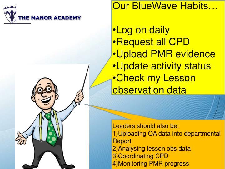 Our BlueWave Habits…