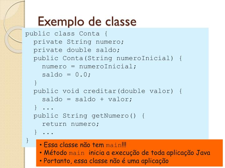 Exemplo de classe