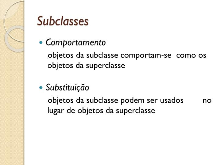 Subclasses
