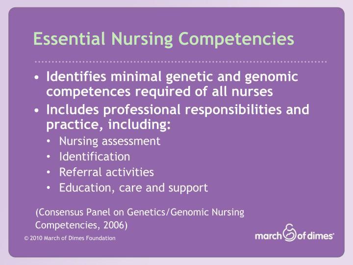 Essential Nursing Competencies