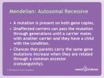 mendelian autosomal recessive