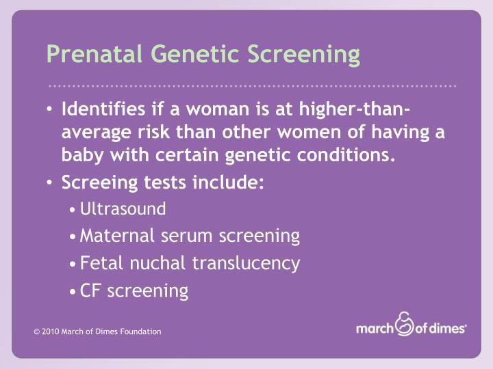 Prenatal Genetic Screening