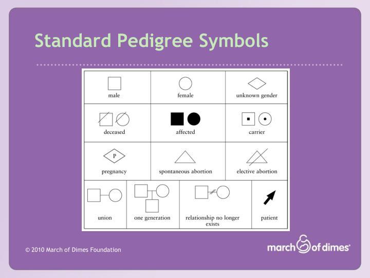 Standard Pedigree Symbols