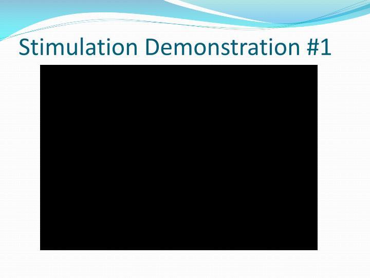 Stimulation Demonstration #1
