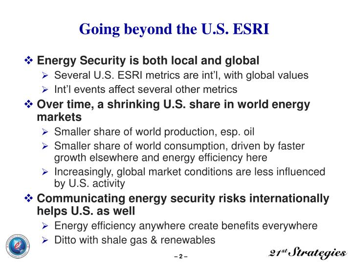 Going beyond the u s esri