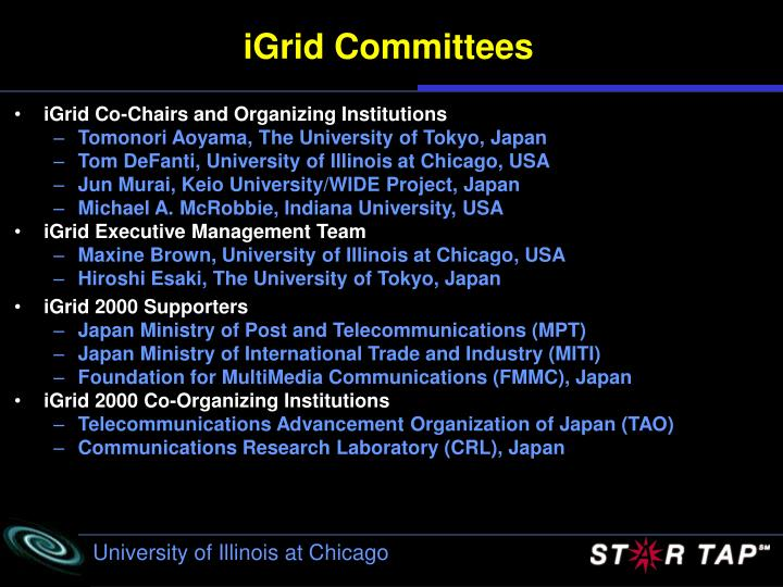 iGrid Committees