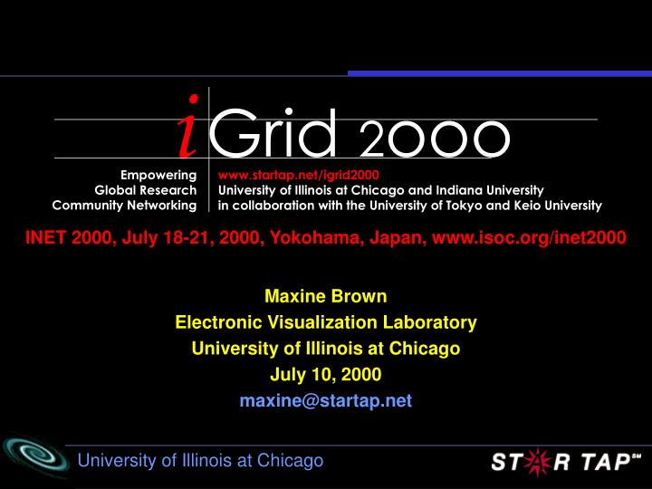 Inet 2000 july 18 21 2000 yokohama japan isoc inet2000