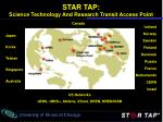 star tap science technology and research transit access point