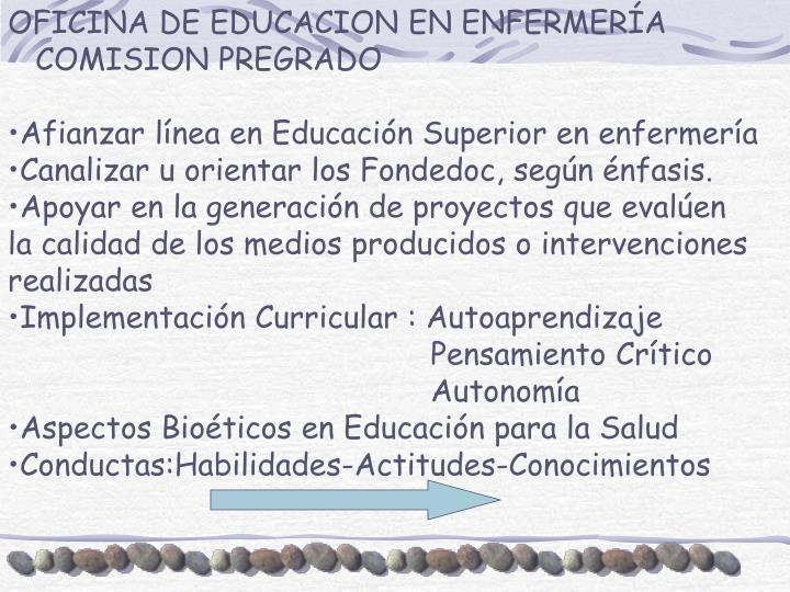OFICINA DE EDUCACION EN ENFERMERÍA