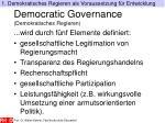 democratic governance demokratisches regieren