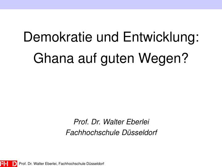 Demokratie und Entwicklung: