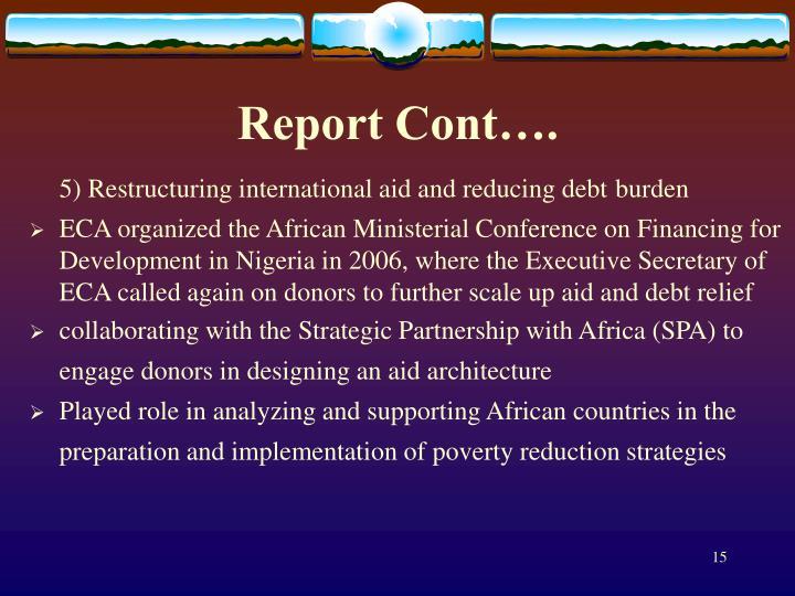 Report Cont….