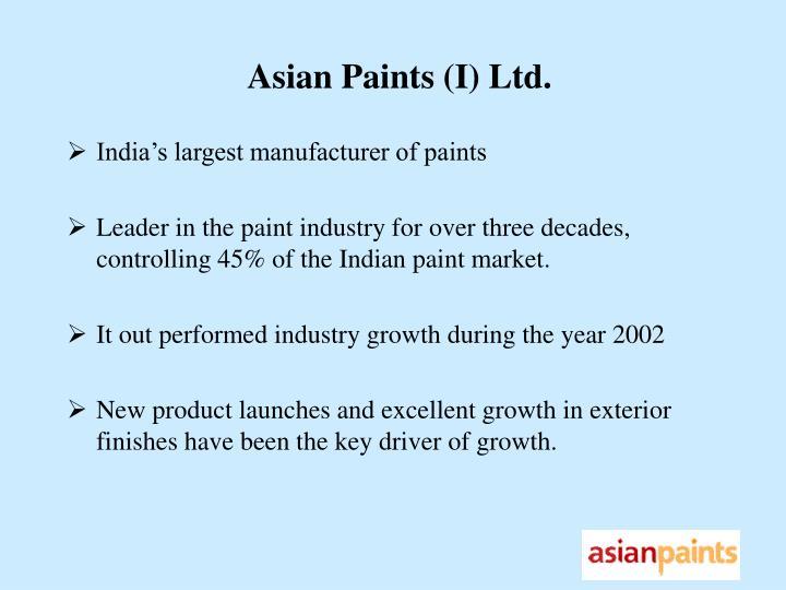 Asian Paints (I) Ltd.